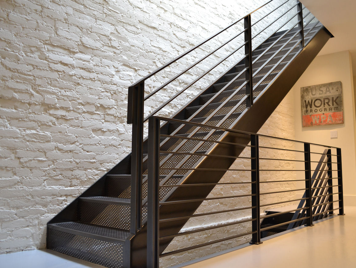 Stair treads risers accurate perforating - Interior stair treads and risers ...