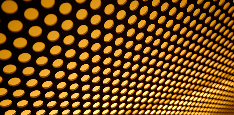 Backlit Perforated Panels | Accurate Perforating