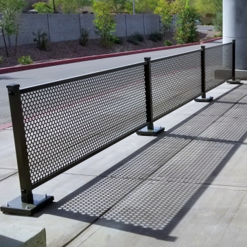 Metal Sidewalk Partitions