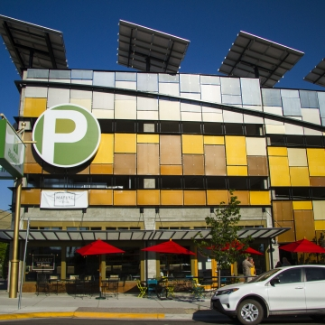 Perforated Parking Facade