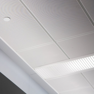 Perforated Metal Ceiling Tiles Close Up