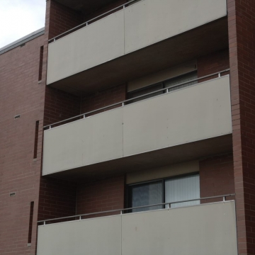 Perforated Metal Balconies Exterior