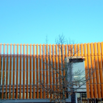 Tenley Library Vertical Perforated Metal Sunshades
