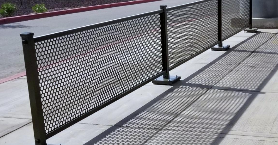 Metal Sidewalk Partitions