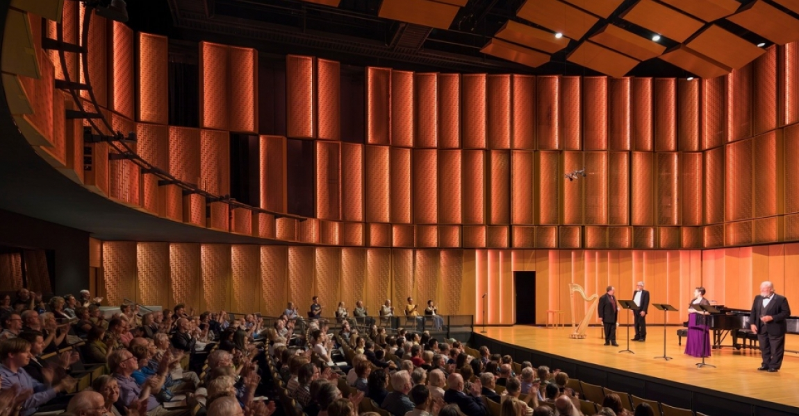Decorative Perforated Metal Mounted on Acoustical Material