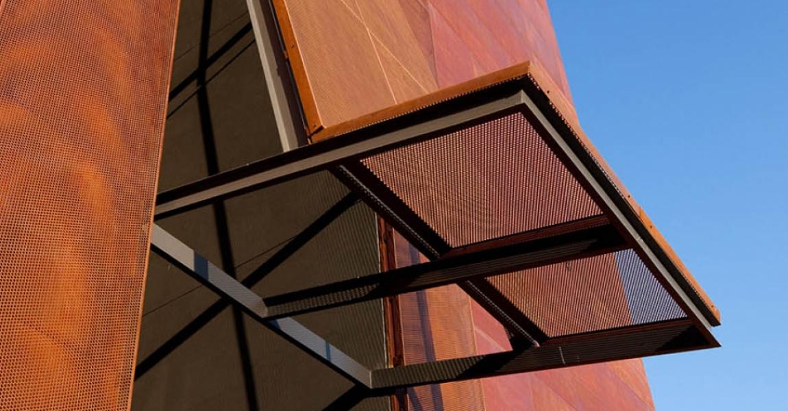 Perforated Corten Facade