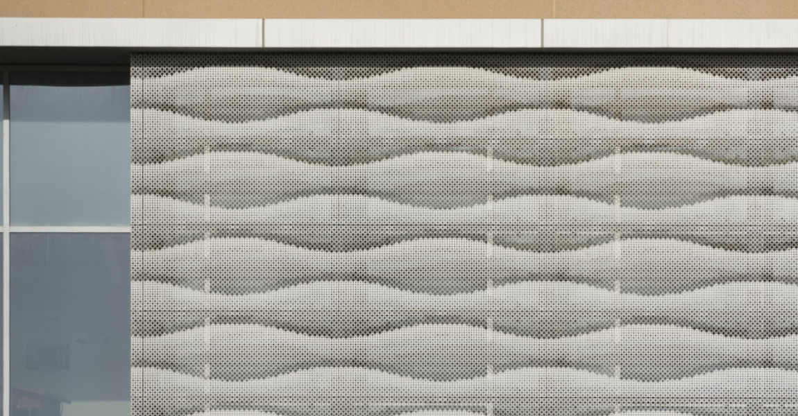 Perforated Graphic Facade