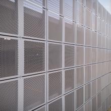 Close Up of Perforated Metal Facade