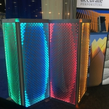 Backlighting Perforated Divider