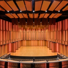 Perforated Panel in Performance Hall