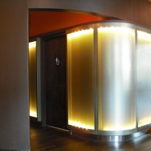 Perforated Backlit Panel