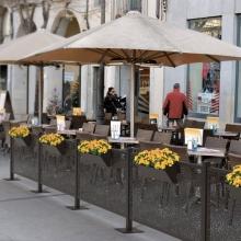 Metal Restaurant Outdoor Fencing